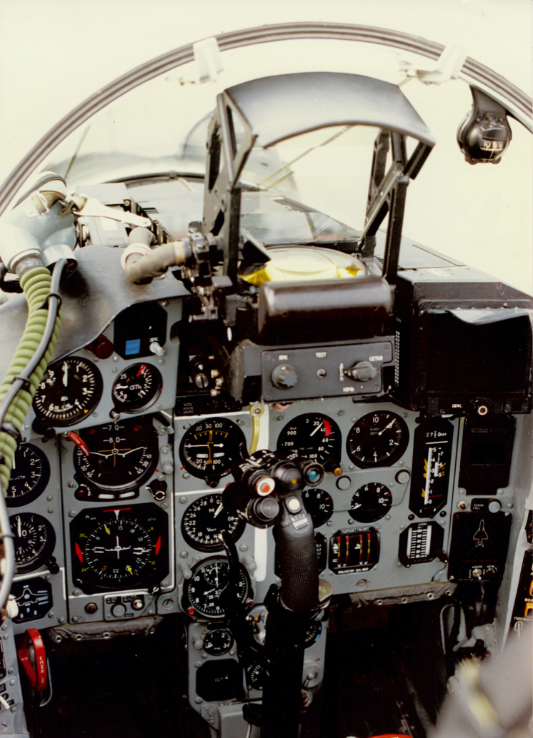 Cockpit view of first Mig-29 to visit North America (Steer, Ian, Aviation Week & Space Technology, Sep. 24, 1990, p. 33)